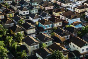 vue aerienne de maison
